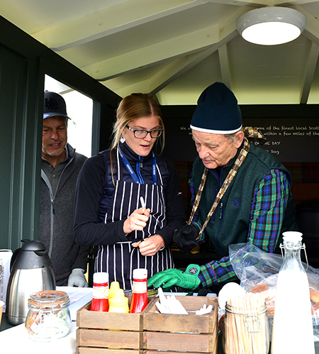 Bill Murray serves up a special takeaway