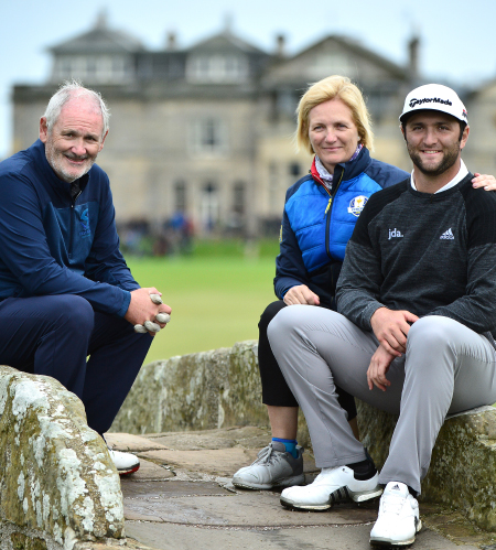 A special Dunhill Moment with the golfing family Rahm