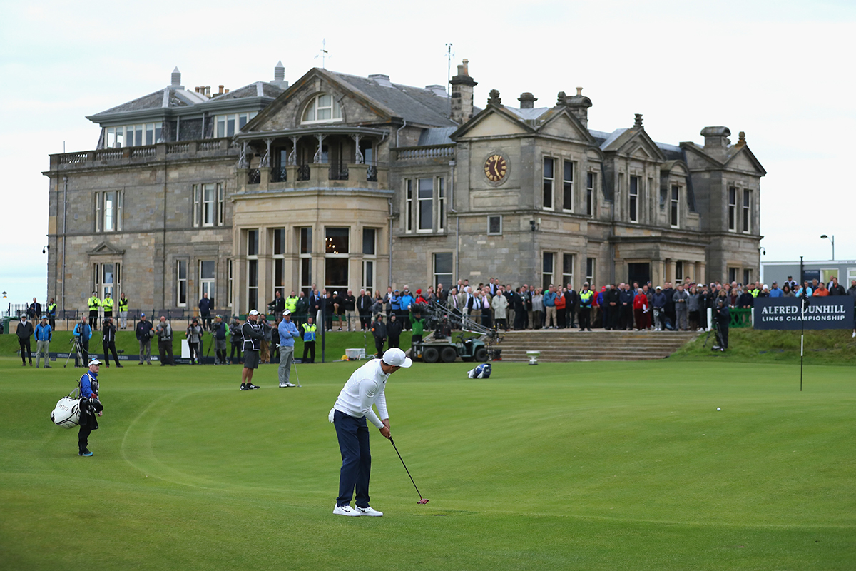 Then and Now... a timeless scene from the Old Course