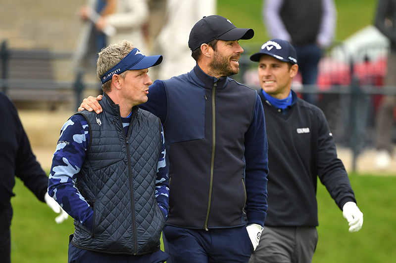 Luke Donald and Jamie Redknapp