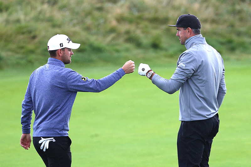 Kevin Pietersen with Bernd Wiesberger
