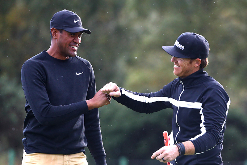 Tony Finau with Ryan Smith