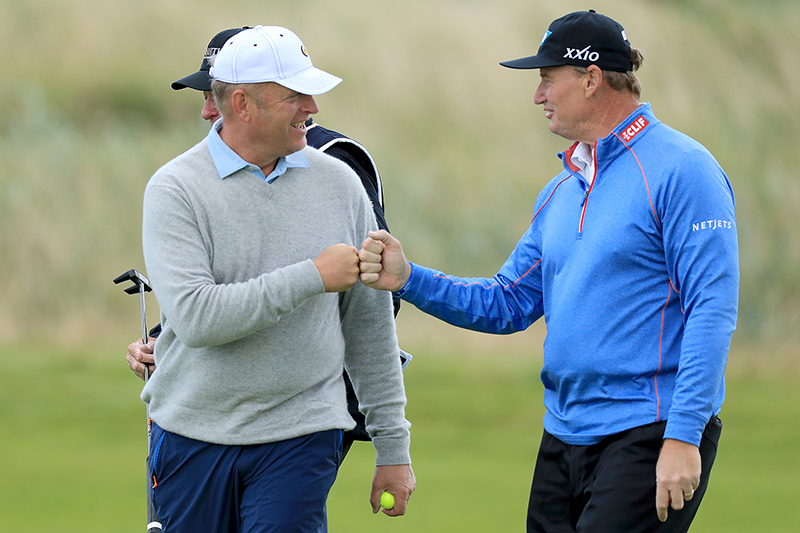 Ernie Els and Rurik Gobel