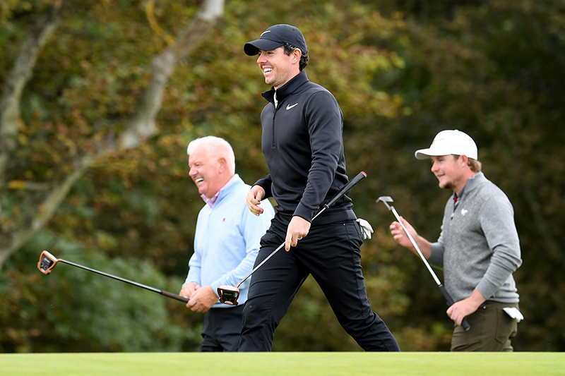 Rory McIlroy and Gerry McIlroy