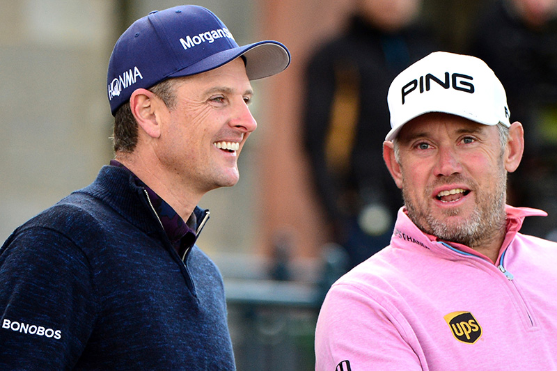 Justin Rose and Lee Westwood
