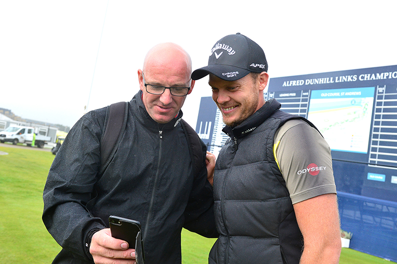 Danny Willet with fans at the 2019 Dunhill Links