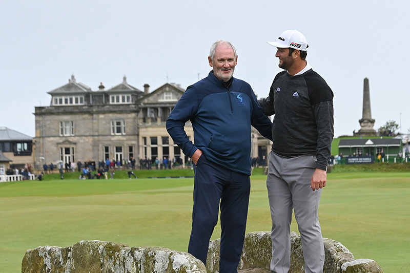 Jon Rahm and His Father Edorta Rahm